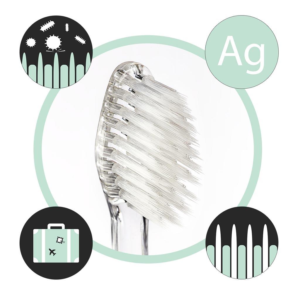 Nano-b антибактериални четкa за зъби със сребро